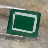 thumb image of 5.3ct Octagon Step Cut Green Agate (ID: 478260)