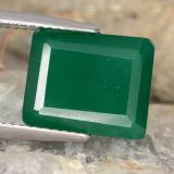 thumb image of 5.3ct Octagon Step Cut Green Agate (ID: 478261)