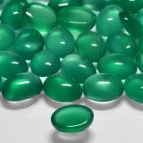 1.30 ct Oval Cabochon Green Agate Gem 8.04 mm x 6 mm (Photo C)