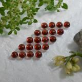 0.21 ct Round Cabochon Deep Red Almandine Garnet Gem 3.14 mm  (Photo C)