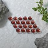 0.20 ct Round Cabochon Red Almandine Garnet Gem 3.11 mm  (Photo B)