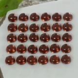 0.19 ct Round Cabochon Dark Red Almandine Garnet Gem 3.07 mm  (Photo B)