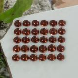 0.19 ct Round Cabochon Dark Red Almandine Garnet Gem 3.07 mm  (Photo C)