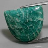 thumb image of 22.9ct Half Moon Cabochon Green Amazonite (ID: 362843)