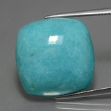 thumb image of 23.4ct Cushion Cabochon Green Blue Amazonite (ID: 402996)