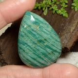 thumb image of 68.1ct Pear Cabochon Blue-Green Amazonite (ID: 484689)