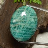 thumb image of 39.9ct Oval Cabochon Blue-Green Amazonite (ID: 484691)