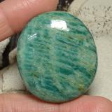 thumb image of 77.1ct Oval Cabochon Blue-Green Amazonite (ID: 484813)