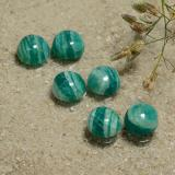 thumb image of 1.4ct Round Cabochon Deep Green Amazonite (ID: 491145)