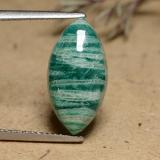 thumb image of 6.2ct Marquise Cabochon Blue-Green Amazonite (ID: 491255)