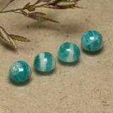 thumb image of 0.6ct Round Cabochon Blue-Green Amazonite (ID: 491798)