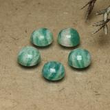 thumb image of 0.9ct Round Cabochon Blue-Green Amazonite (ID: 491828)