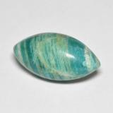 thumb image of 9.1ct Marquise Cabochon Blue-Green Amazonite (ID: 492277)