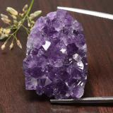 thumb image of 82.4ct Fancy Crystal Cluster Medium Violet Amethyst Geode (ID: 391737)