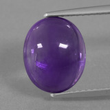 thumb image of 4.2ct Oval Cabochon Purple Amethyst (ID: 363116)