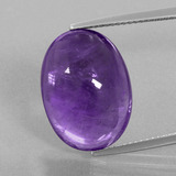 thumb image of 14.2ct Oval Cabochon Violet Amethyst (ID: 391309)