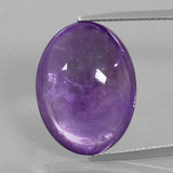 thumb image of 18.3ct Oval Cabochon Violet Amethyst (ID: 391310)