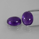 thumb image of 5.1ct Oval Cabochon Violet Amethyst (ID: 392269)