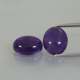thumb image of 6.9ct Oval Cabochon Violet Amethyst (ID: 392352)