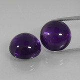thumb image of 20ct Round Cabochon Violet Amethyst (ID: 392517)