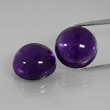 thumb image of 18.2ct Round Cabochon Violet Amethyst (ID: 392518)