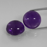thumb image of 15.8ct Round Cabochon Violet Amethyst (ID: 392519)