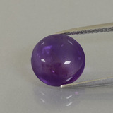 thumb image of 5.1ct Round Cabochon Violet Amethyst (ID: 392551)