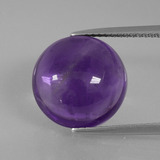 thumb image of 8.5ct Round Cabochon Violet Amethyst (ID: 392591)