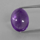 thumb image of 8.7ct Oval Cabochon Violet Amethyst (ID: 392640)