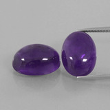 thumb image of 13.8ct Oval Cabochon Violet Amethyst (ID: 392689)