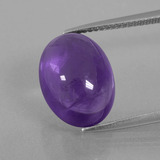 thumb image of 7ct Oval Cabochon Violet Amethyst (ID: 392775)