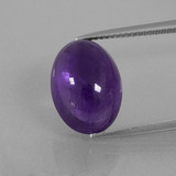 thumb image of 8.1ct Oval Cabochon Violet Amethyst (ID: 392807)