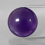 thumb image of 19.8ct Round Cabochon Violet Amethyst (ID: 393223)