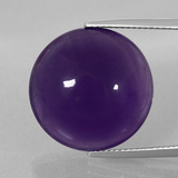 thumb image of 20.1ct Round Cabochon Violet Amethyst (ID: 393225)