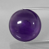 thumb image of 19.9ct Round Cabochon Violet Amethyst (ID: 393227)