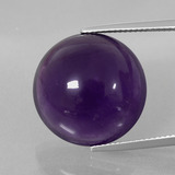 thumb image of 21.5ct Round Cabochon Violet Amethyst (ID: 393229)