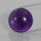 thumb image of 25.2ct Round Cabochon Violet Amethyst (ID: 393348)