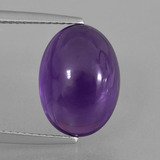 thumb image of 8.2ct Oval Cabochon Violet Amethyst (ID: 405220)