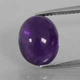 thumb image of 3.6ct Oval Cabochon Violet Amethyst (ID: 409658)