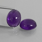 thumb image of 2.3ct Oval Cabochon Medium Violet Amethyst (ID: 410037)