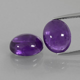 thumb image of 5.6ct Oval Cabochon Violet Amethyst (ID: 410220)