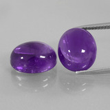 thumb image of 11ct Oval Cabochon Violet Amethyst (ID: 410550)
