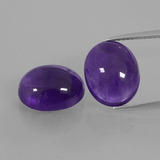 thumb image of 9.7ct Oval Cabochon Violet Amethyst (ID: 410656)