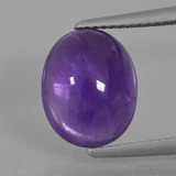 thumb image of 5.4ct Oval Cabochon Violet Amethyst (ID: 410761)