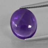 thumb image of 4.7ct Oval Cabochon Violet Amethyst (ID: 410763)