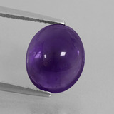 thumb image of 4.8ct Oval Cabochon Violet Amethyst (ID: 410828)
