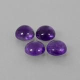 thumb image of 7.3ct Round Cabochon Violet Amethyst (ID: 411155)