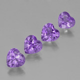 thumb image of 2.5ct Heart Facet Violet Amethyst (ID: 425234)
