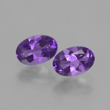 thumb image of 0.8ct Oval Facet Violet Amethyst (ID: 427181)