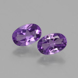 thumb image of 0.8ct Oval Facet Violet Amethyst (ID: 427316)